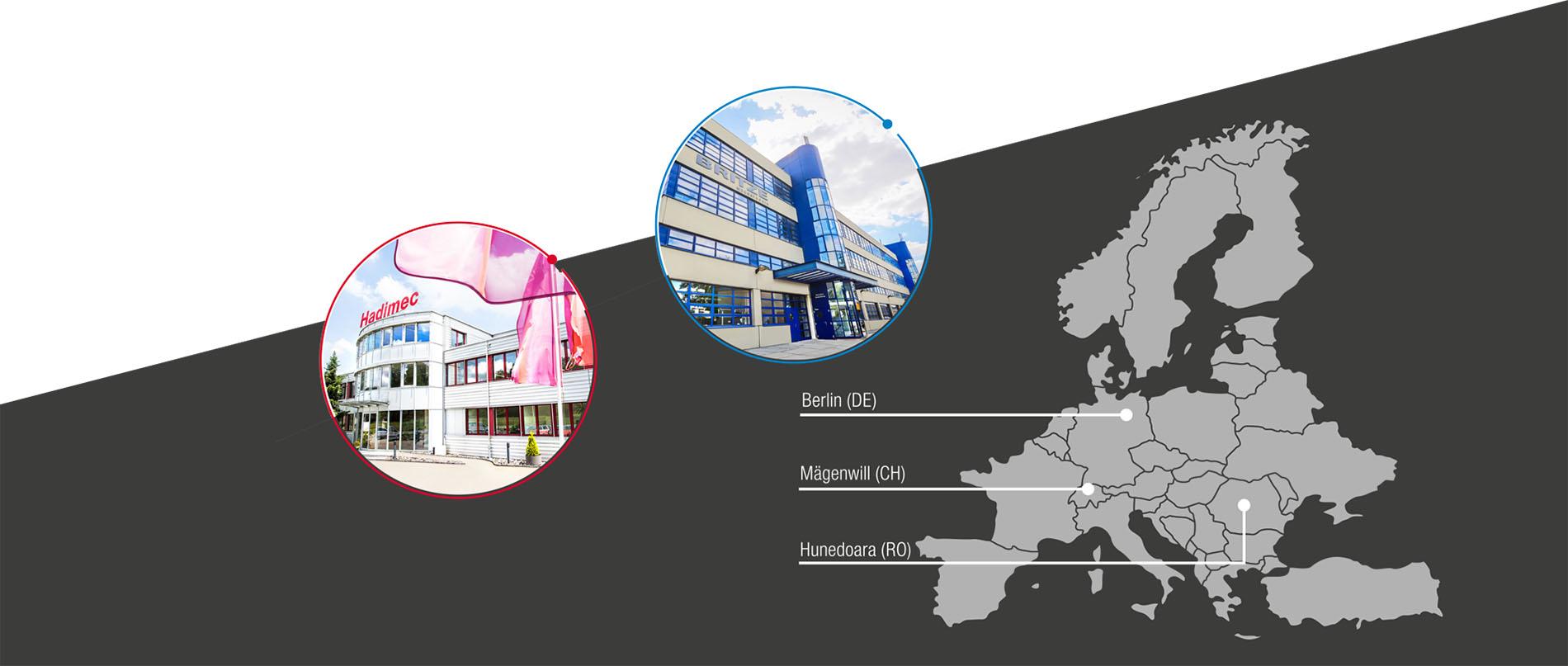 hadimec - BRITZE - EU Standorte